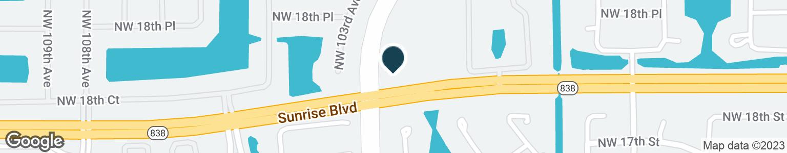 Google Map of1800 N NOB HILL RD