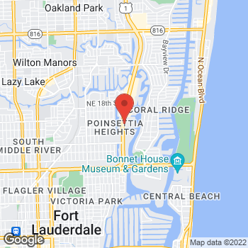 Map of Hair Cuttery at 1520 North Federal Highway, Fort Lauderdale, FL 33305
