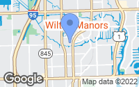 Map of Wilton Manors, FL