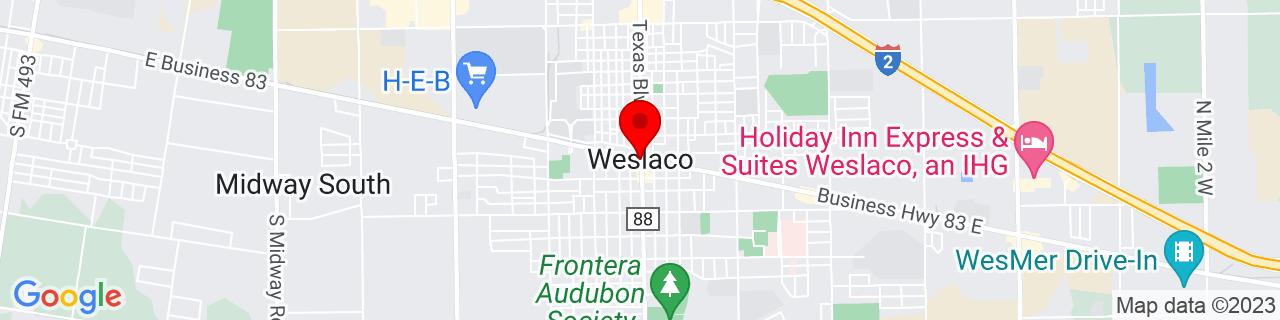Google Map of 26.159444444444443, -97.99083333333333