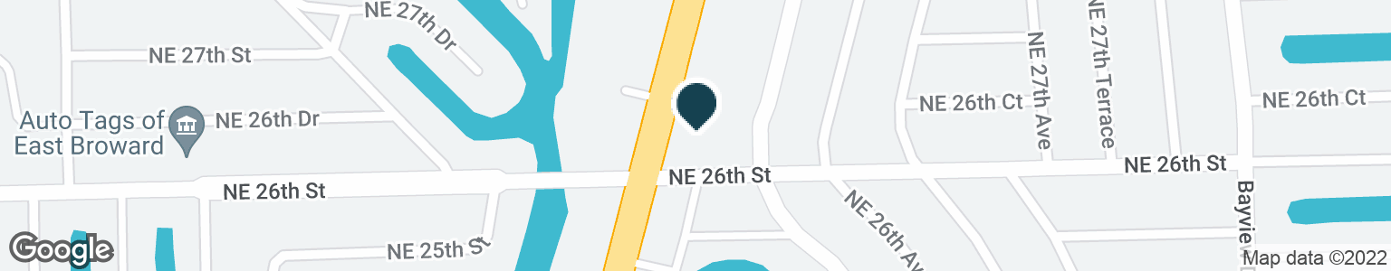 Google Map of2355 NE 26TH ST