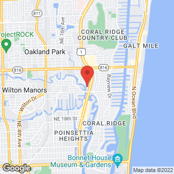 Map of Bed Bath & Beyond at 2701 North Federal Highway, Fort Lauderdale, FL 33306