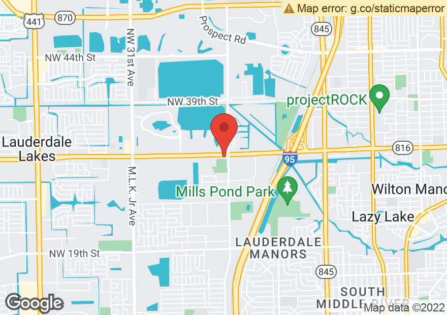 Google Map of 2104 W OAKLAND PARK BLVD