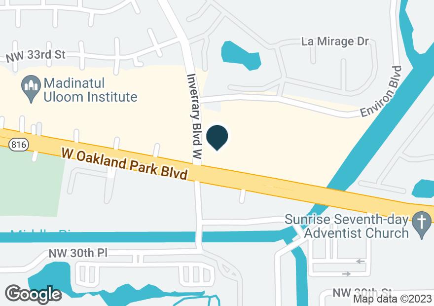 Google Map of7229 W OAKLAND PARK BLVD