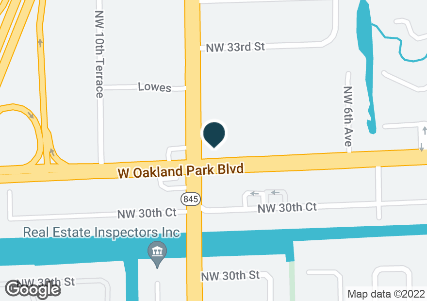 Google Map of871 W OAKLAND PARK BLVD