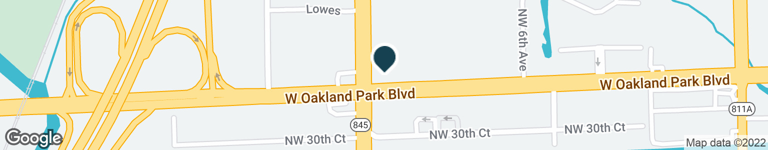 Google Map of871 W OAKLAND PARK BLVD