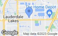Map of Lauderdale Lakes, FL