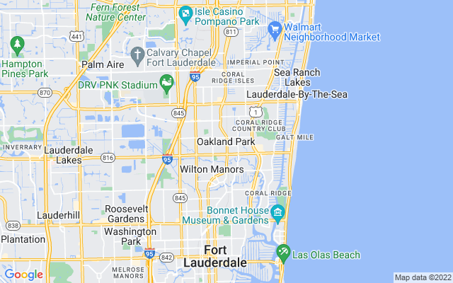 Oakland Park on the map