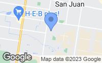Map of San Juan, TX