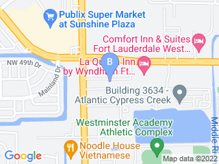 Map of Arfington Pet Resort Dog Boarding options in Fort Lauderdale | Boarding