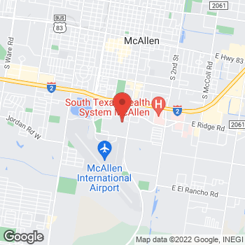 Map of Sunglass Hut at Macy's at 2100 S 10th St, McAllen, TX 78503