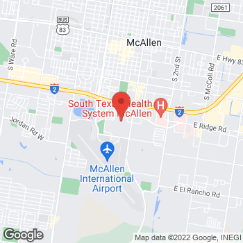 Map of 2200 South 10th St in McAllen