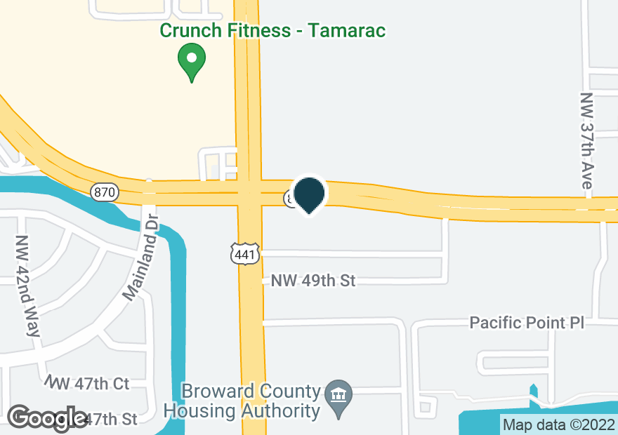 Google Map of3914 W COMMERCIAL BLVD