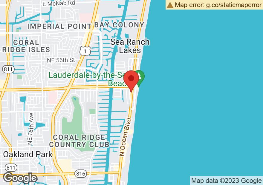 Google Map of 4319 N OCEAN DR
