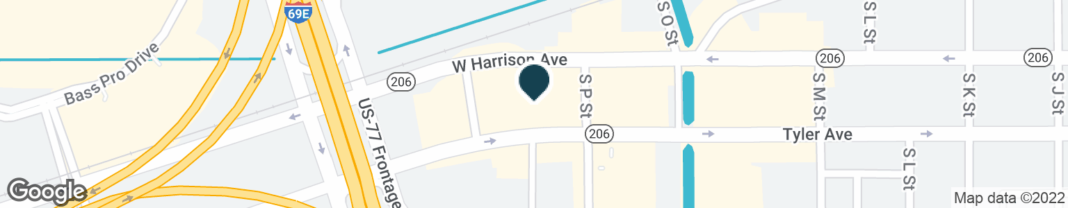 Google Map of1810 W TYLER AVE