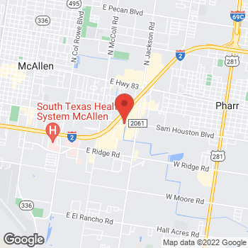 Map of Wendy's at 1108 East Jackson Avenue, McAllen, TX 78503