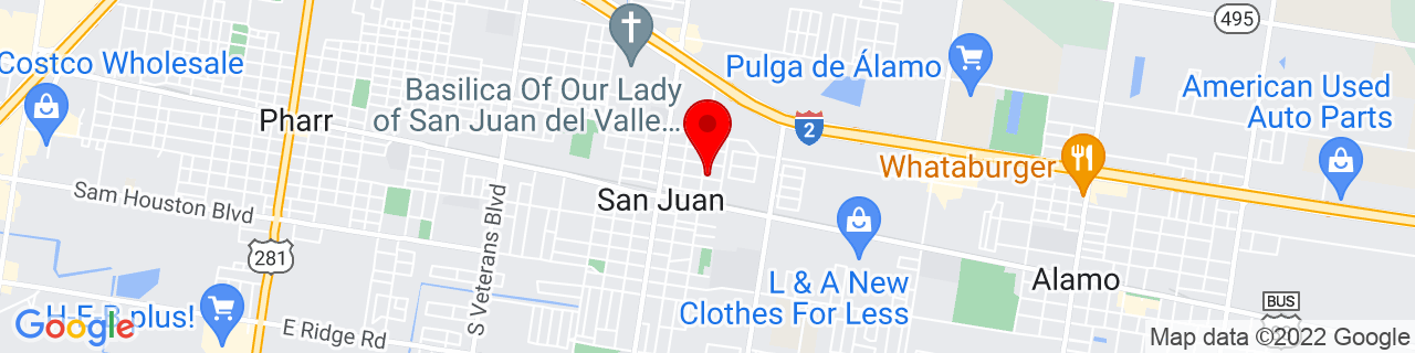 Google Map of 26.190833333333334, -98.15166666666667