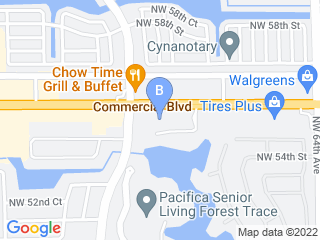 Map of Animal Medical Center Dog Boarding options in Lauderhill | Boarding