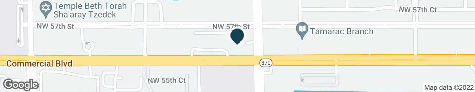 Google Map of8801 W COMMERCIAL BLVD