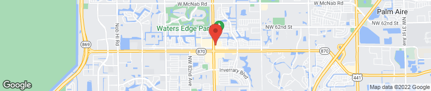 Map of 5710 University Drive in Tamarac