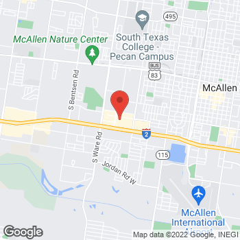 Map of Guitar Center Lessons at 3300 W Expy 83 #800, McAllen, TX 78501