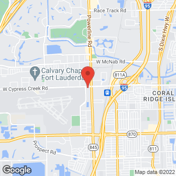 Map of Arby's at 924 Nw 62nd St, Fort Lauderdale, FL 33309