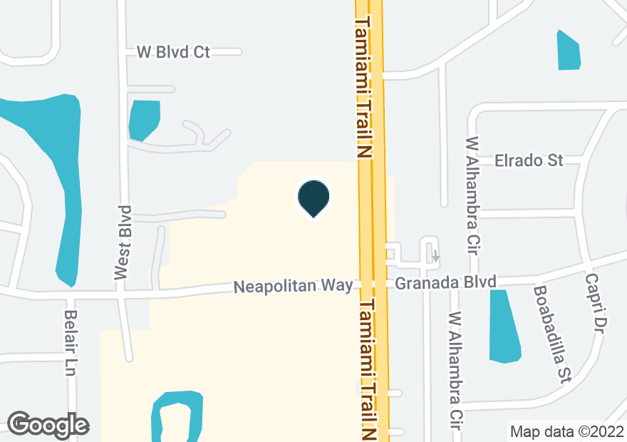 Google Map of4673 TAMIAMI TRL N