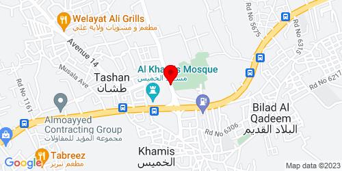 Google Map of 26.209162, 50.549415
