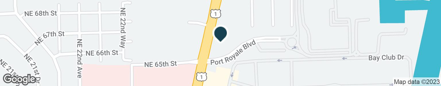Google Map of6602 N FEDERAL HWY