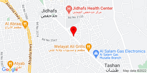 Google Map of 26.214204, 50.540516