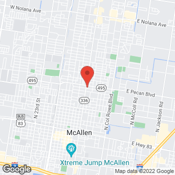 Map of Check `n Go 10th Street at 1514 10th Street, McAllen, TX 78501