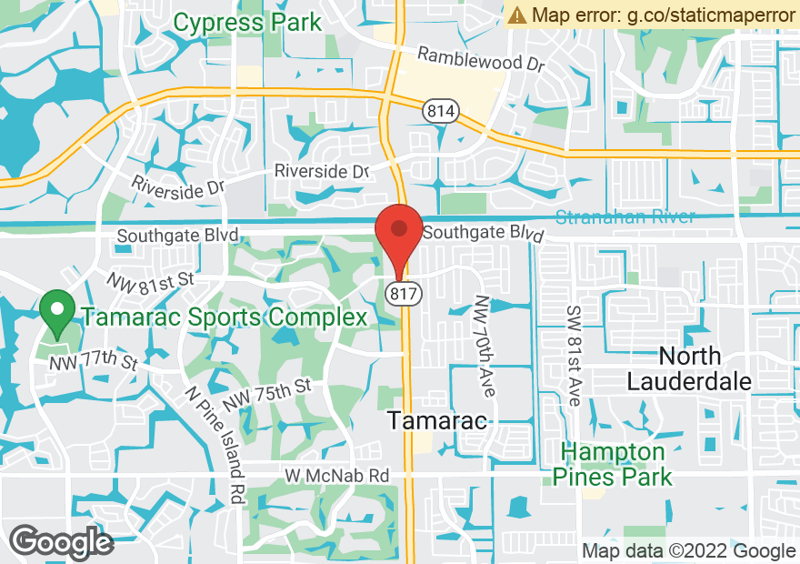 Google Map of 8199 N UNIVERSITY DR