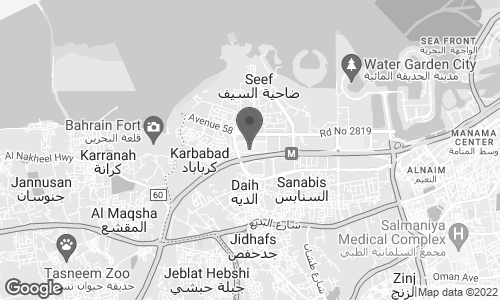 Map of Seef Mall Shopping Complex in Manama