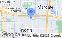 Map of Margate, FL