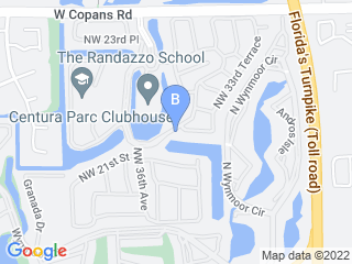 Map of Millennial Doggies  Dog Boarding options in Coconut creek | Boarding