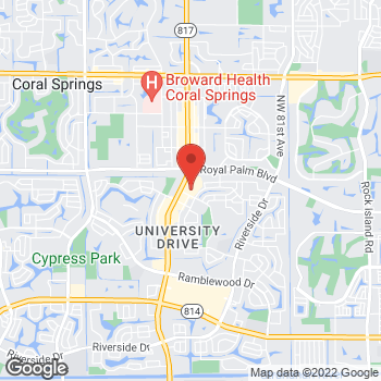 Map of buybuy BABY at 2035 North University Drive, Coral Springs, FL 33071