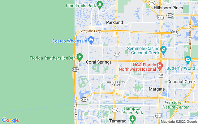Coral Springs on the map
