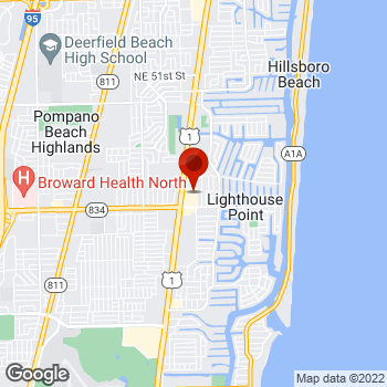 Map of Staples® Print & Marketing Services at 3742 North Federal Highway, Lighthouse Point, FL 33064