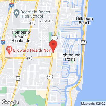 Map of Arby's at 3780 N Federal Hwy, Lighthouse Point, FL 33064