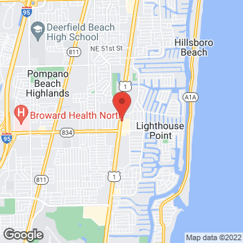 Map of Arby's at 3780 N Federal Hwy, Lighthouse Point, FL 33064-6610
