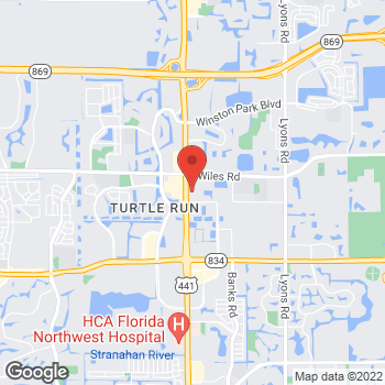 Map of Gunther Volvo Cars Coconut Creek at 4350 North State Road 7, Coconut Creek, FL 33073