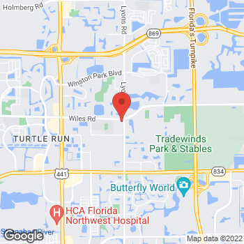 Map of Guitar Center at 4449 Lyons Rd, Coconut Creek, FL 33073