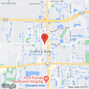 Map of Taco Bell at 5850 Wiles Road, Coral Springs, FL 33067