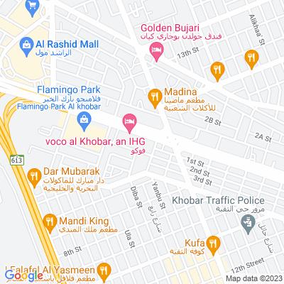خريطة فندق فندق كراون بلازا الخبر