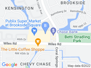Map of Brookside Animal Hospital Dog Boarding options in Coral Springs | Boarding
