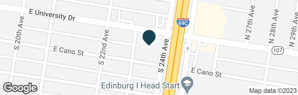 Google Map of1418 E UNIVERSITY DR
