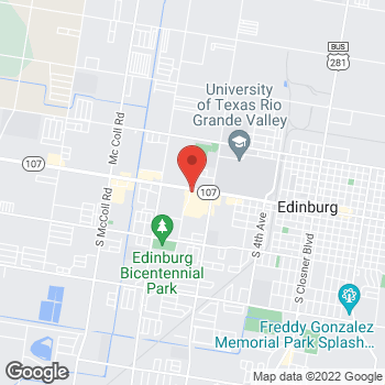 Map of Taco Bell at 1804 W University Dr, Edinburg, TX 78539