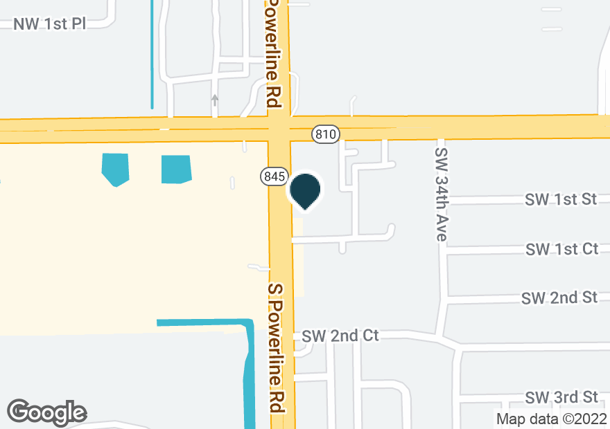 Google Map of120 S POWERLINE RD