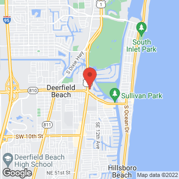 Map of Taco Bell at 50 N Federal Hwy, Deerfield Beach, FL 33441