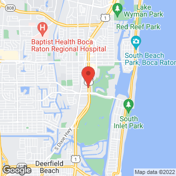 Map of Hair Cuttery at 851 South Federal Highway, Boca Raton, FL 33432